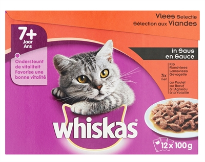 WHIS MULTIPACK POUCH SENIOR VLEES SELECTIE IN SAUS