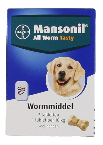 MANSONIL HOND ALL WORM TASTY TABLETTEN