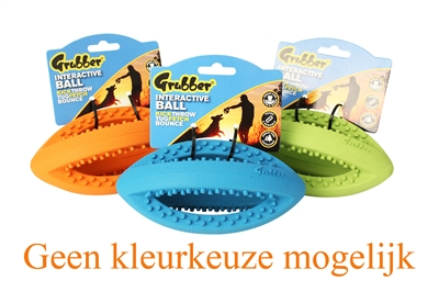 HAPPY PET GRUBBER INTERACTIEVE RUGBYBAL MINI ASSORTI