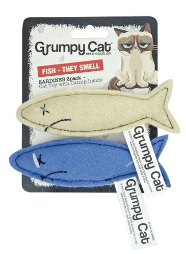 GRUMPY CAT SARDINES MET CATNIP