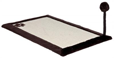 TRIXIE KRABMAT MET PLUCHE RAND BRUIN / NATUREL