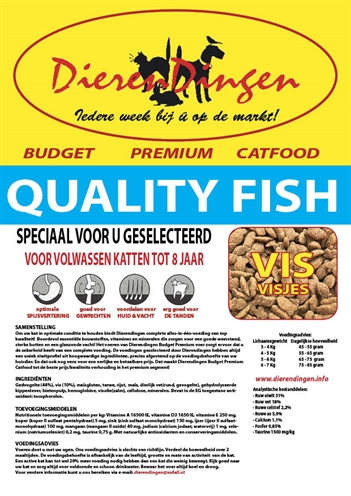 BUDGET PREMIUM CATFOOD QUALITY FISH
