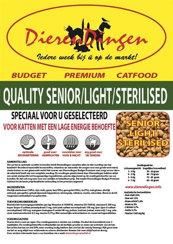 BUDGET PREMIUM CATFOOD QUALITY SENIOR / LIGHT / STERILISED