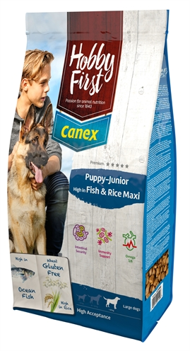 HOBBYFIRST CANEX PUPPY/JUNIOR BROCKS RICH IN FISH & RICE MAXI