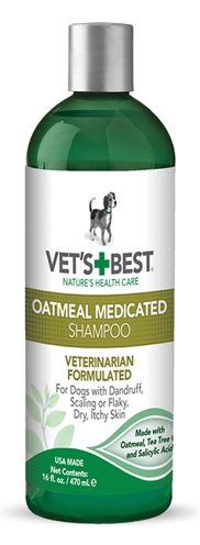 VETS BEST OATMEAL MEDICATED SHAMPOO