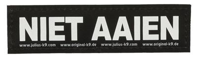 JULIUS K9 LABELS VOOR POWER-HARNAS/TUIG NIET AAIEN