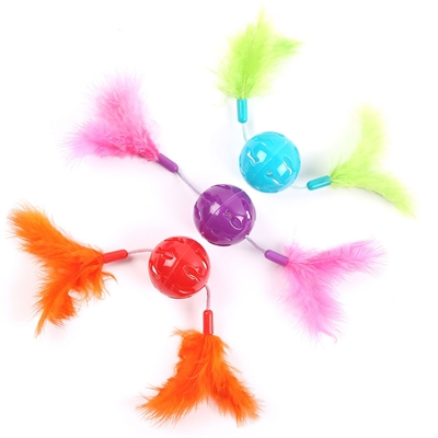 HAPPY PET CAT 'N' CABOODLE FEATHER TWIZZLERS ASSORTI