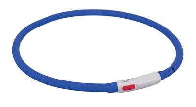 TRIXIE HALSBAND USB FLASH LIGHT LICHTGEVEND OPLAADBAAR ROYAL BLAUW