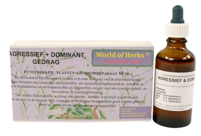 WORLD OF HERBS FYTOTHERAPIE AGRESSIEF / DOMINANT GEDRAG