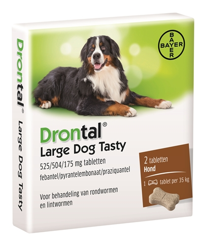 BAYER DRONTAL ONTWORMING HOND L TASTY