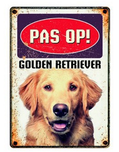 PLENTY GIFTS WAAKBORD BLIK GOLDEN RETRIEVER