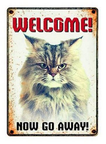 PLENTY GIFTS WAAKBORD BLIK GRUMPY CAT