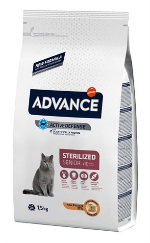 ADVANCE CAT STERILIZED SENSITIVE SENIOR 10+