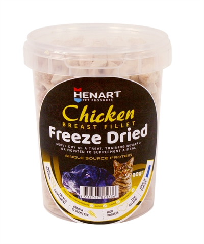 HENART FREEZE DRIED CHICKENBREAST FILLET