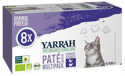 YARRAH CAT ALU PATE MULTIPACK CHICKEN / TURKEY