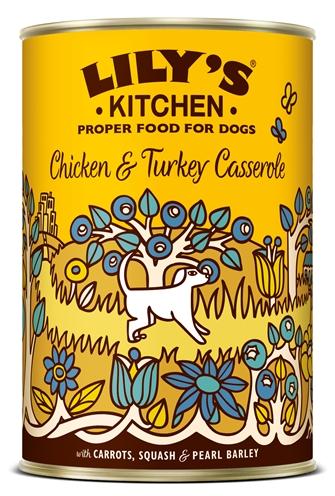 LILY'S KITCHEN DOG CHICKEN / TURKEY CASSEROLE