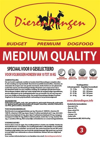 BUDGET PREMIUM DOGFOOD ADULT MEDIUM