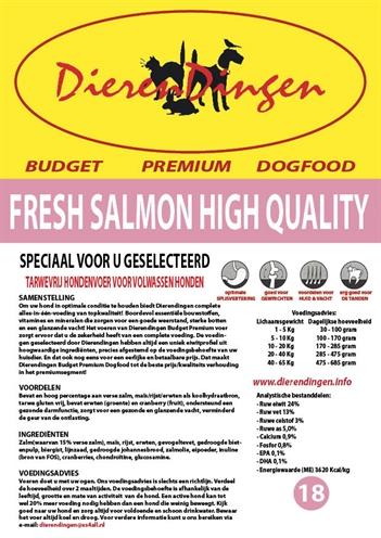 BUDGET PREMIUM DOGFOOD FRESH SALMON HIGH QUALITY