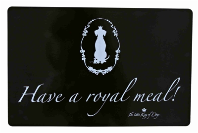TRIXIE PLACEMAT KING OF DOGS HAVE A ROYAL MEAL! ZWART