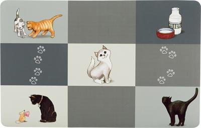 TRIXIE PLACEMAT PATCHWORK CAT GRIJS