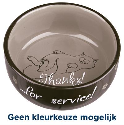 TRIXIE VOERBAK / WATERBAK THANKS FOR SERVICE KERAMIEK ASSORTI