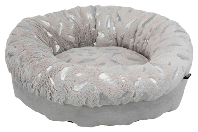 TRIXIE MAND FEATHER ROND ZILVER / GRIJS