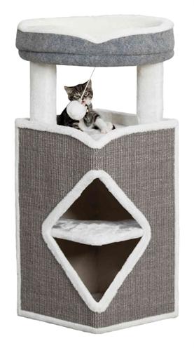 TRIXIE CAT TOWER ARMA GRIJS / WIT