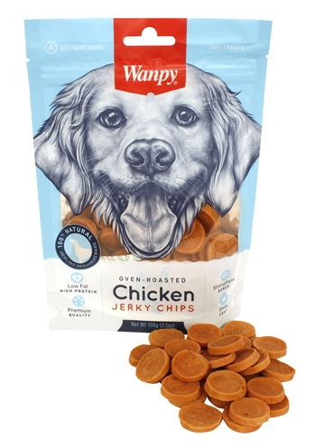 WANPY OVEN-ROASTED CHICKEN JERKY CHIPS
