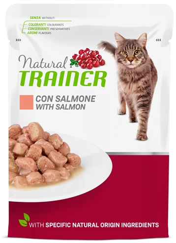 NATURAL TRAINER CAT ADULT SALMON POUCH