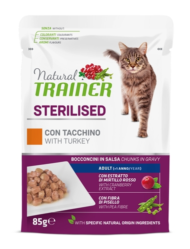NATURAL TRAINER CAT STERILISED TURKEY POUCH