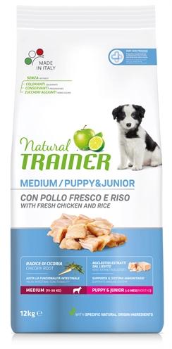 NATURAL TRAINER DOG PUPPY / JUNIOR MEDIUM CHICKEN