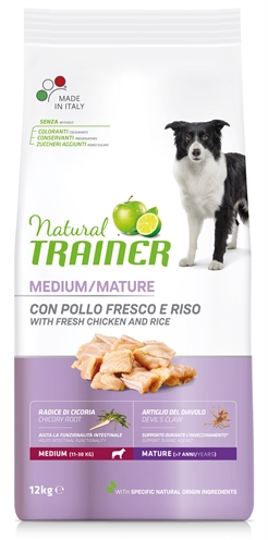 NATURAL TRAINER DOG SENIOR MEDIUM CHICKEN