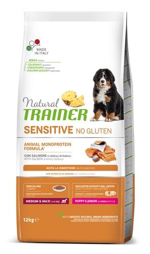 NATURAL TRAINER DOG PUPPY / JUNIOR MEDIUM / MAXI SENSITIVE SALMON