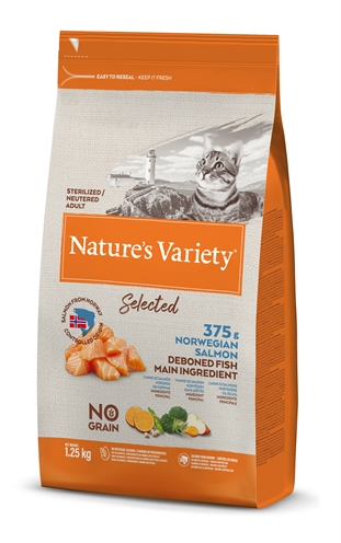 NATURES VARIETY SELECTED STERILIZED NORWEGIAN SALMON