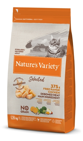NATURES VARIETY SELECTED STERILIZED FREE RANGE CHICKEN