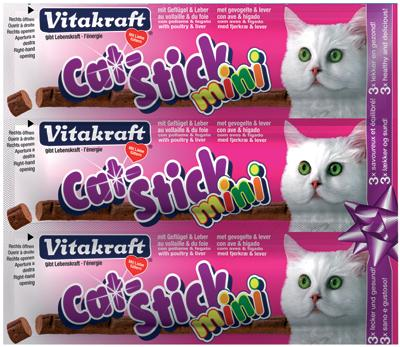 VITAKRAFT CAT-STICK MINI GEVOGELTE MET LEVER