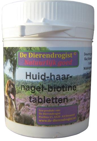 DIERENDROGIST HUID-HAAR-NAGEL-BIOTINE TABLETTEN