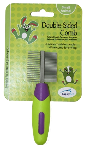 HAPPY PET KNAAGDIER DOUBLE SIDED COMB