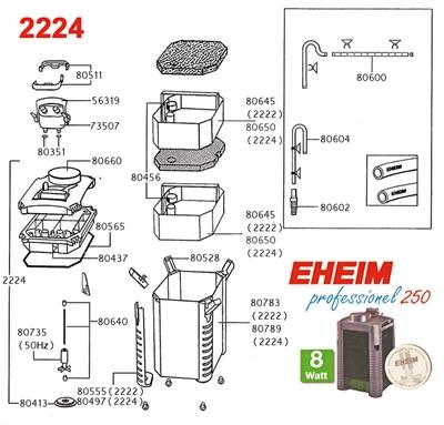 EHEIM POMPRAD VOOR 2222/2224/2322/2324