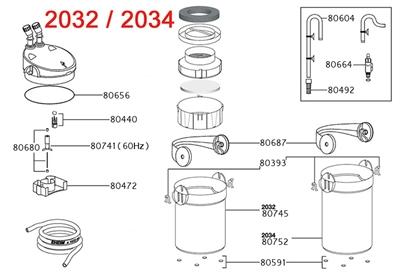 EHEIM FILTERPOT VOOR 2231/2232